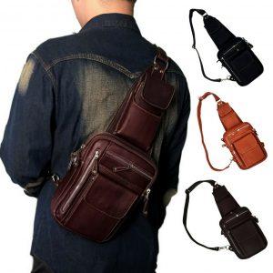 กระเป๋าคาดอกผู้ชาย กระเป๋าหนังแท้