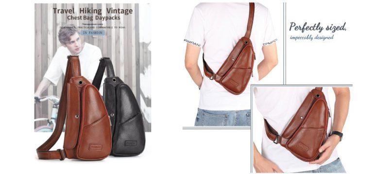 กระเป๋าคาดอกผู้ชาย Leather