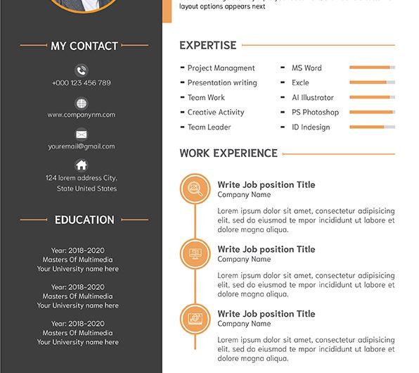ตัวอย่าง Resume เรียบๆ สุดปัง สวยสะดุดตา จนต้องร้องว้าว!