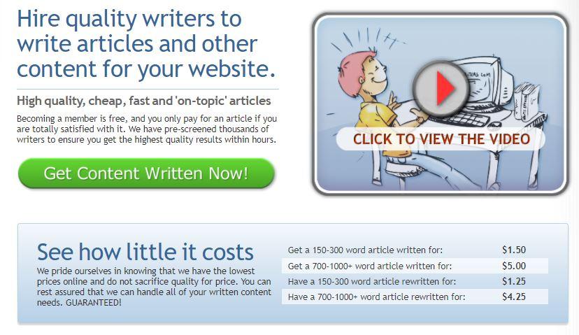 HireWriters.com เว็บไซต์รับเขียนบทความภาษาอังกฤษ