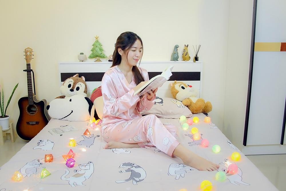 ชุดนอนลายกระต่ายสีชมพู