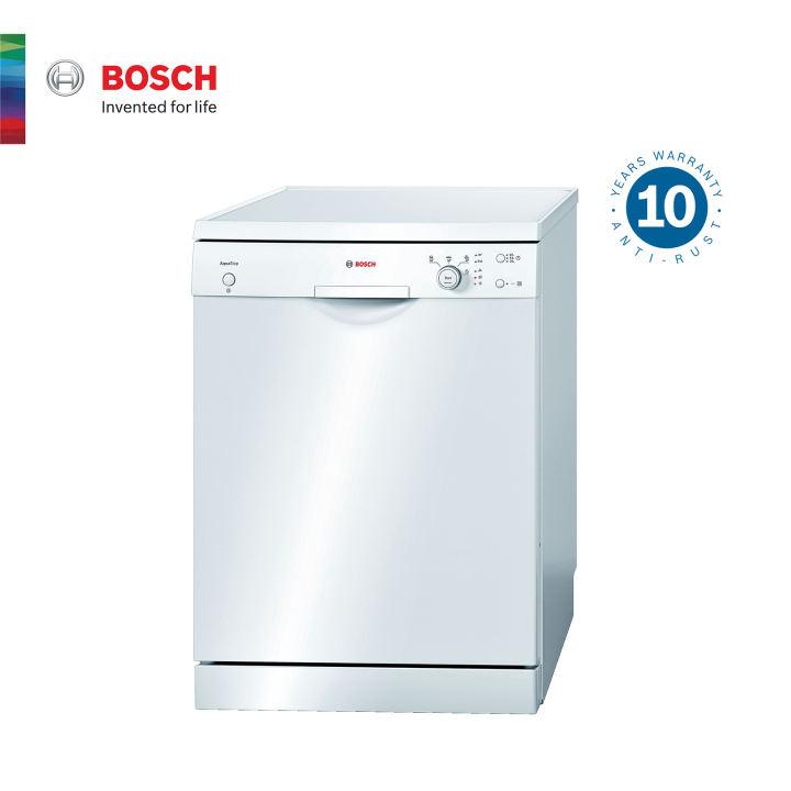 Bosch เครื่องล้างจานแบบตั้งพื้น ขนาด 60 cm สีขาว รุ่น SMS40E32EU