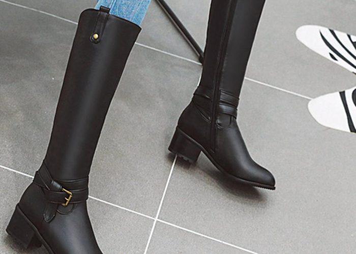 รองเท้า Boots ยี่ห้อไหนดี บูทยาว สีดำ