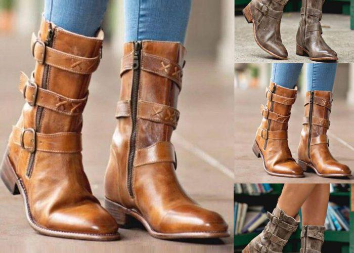 รองเท้า Boots ยี่ห้อไหนดี รองเท้าส้นเตี้ยคาวบอย