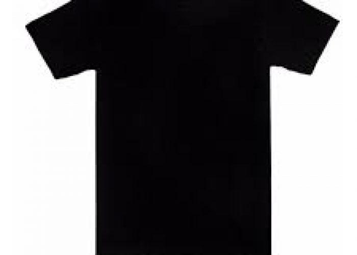 เสื้อยืดคอกลมสีพื้นสีดำ