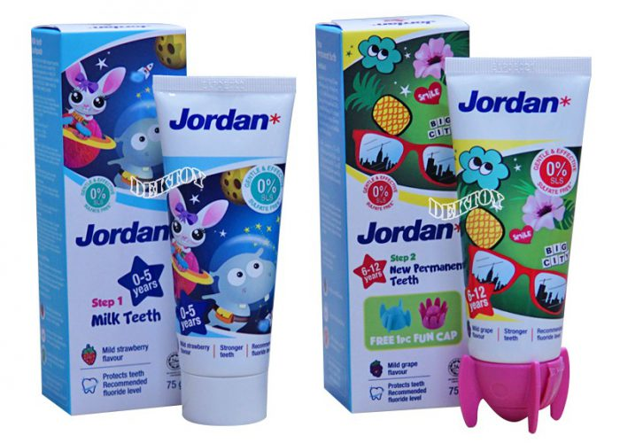 ยาสีฟันเด็ก ยี่ห้อ Jordan
