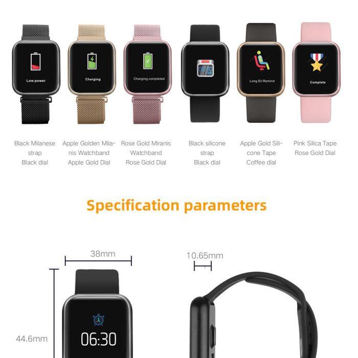 นาฬิกา smart watch ผู้หญิง แบรนด์ MAFAM รุ่น P80