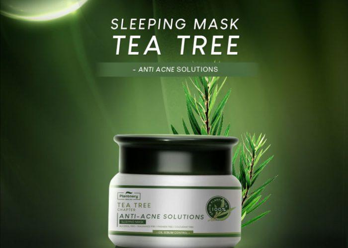 Plantnery Tea Tree Sleeping Mask 50 g สลีปปิ้งมาส์ก