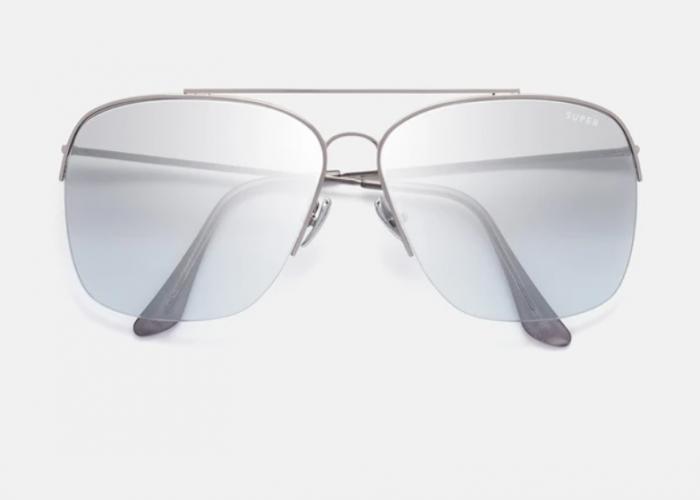 แว่นกันแดด Super แท้ รุ่น SUPER AQE NAZIONALE SILVER OMBRE