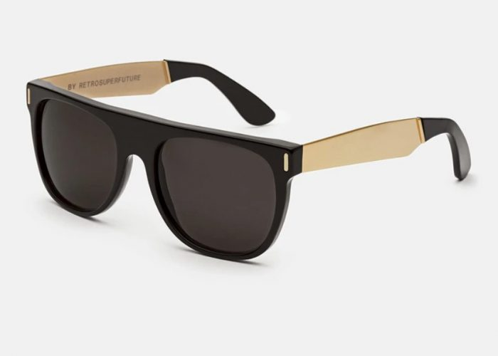 แว่นกันแดด Super แท้ รุ่น SUPER NIM FLAT TOP FRANCIS BLACK GOLD