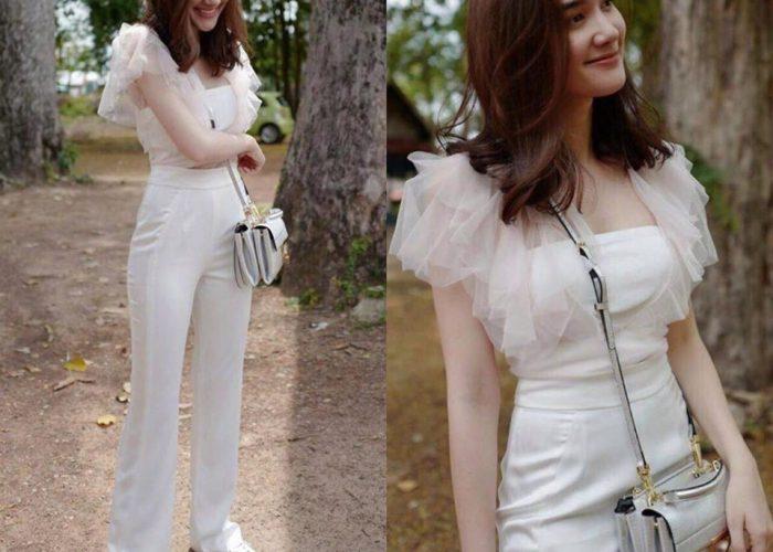 ชุดไปงานแต่งกลางวันแบบกางเกง แบรนด์ maya-fashion